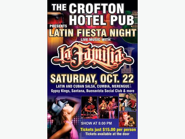 Crofton Pub presents Latin Fiesta Night with La Familia Band