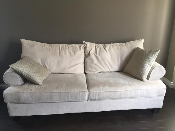 Light Beige microsuade love seat