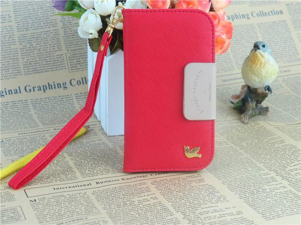 Wallet Leather Flip Case Cover Pigeon Style for IPhone 5C