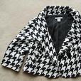 Short Bolero Jacket NYGARD Designer HOUNDSTOOTH Coat Womens vintage size 12