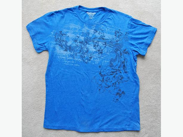 BLUENOTES WOMEN'S Sz XL BLUE T-SHIRT front paisley graphics