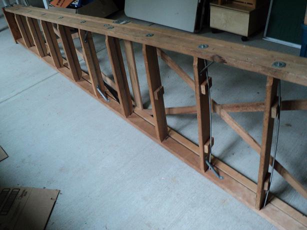 12 foot wooden step ladden
