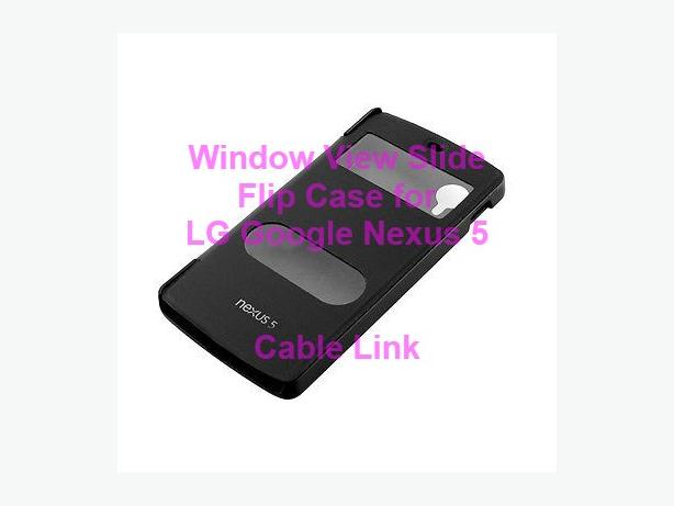 Window view flip case for LG Google Nexus 5