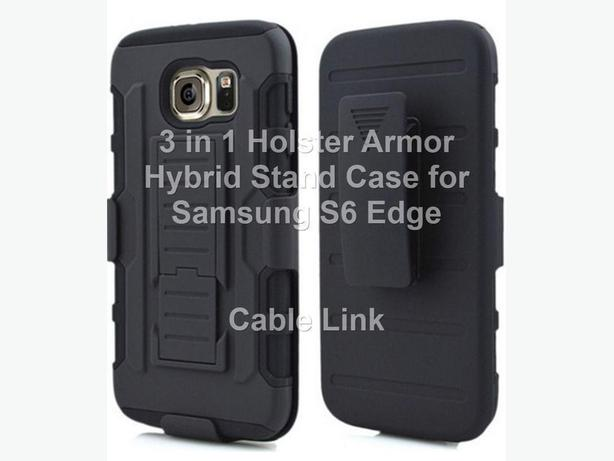 New Premium 3 in 1 Armor Hybrid Holster Case for Samsung S6 Edge