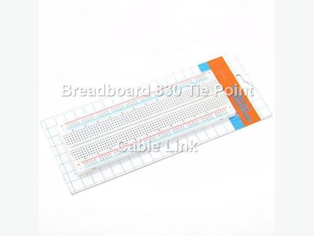 Dual Power Bus Solderless 830 Tie Points holes Breadboard Protoboard