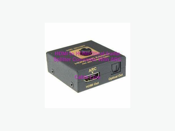HDMI to HDMI and Optical Audio Converter Splitter With ARC