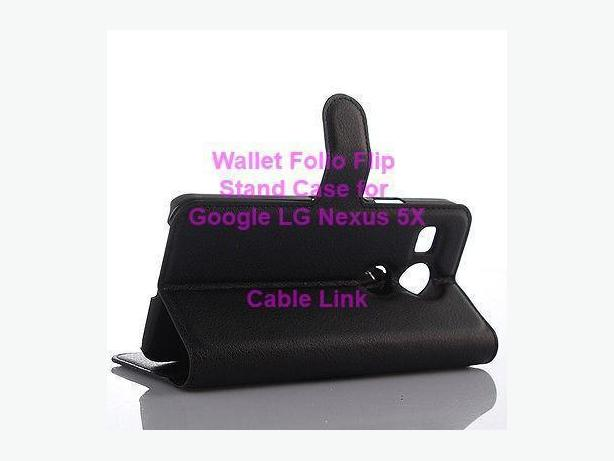 Wallet Folio Flip Stand Case for Google LG Nexus 5X