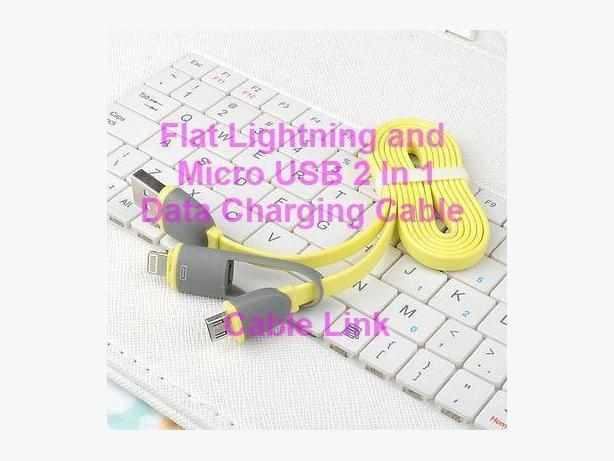 New Dual-port Lightning Micro USB 2in1 Data Charging Cable IPhone