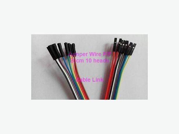 10 heads 20cm Dupont F/F Breadboard Jumper Wire Raspberry Pi