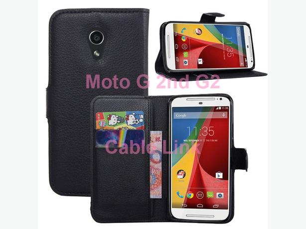 Wallet Flip Stand Leather Case for Motorola Moto G 2nd G2