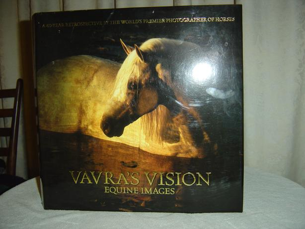 Coffee table hard cover pictoral book on horses