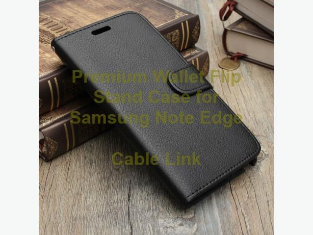 Premium Flip Leather Wallet Stand Case for Samsung Note Edge