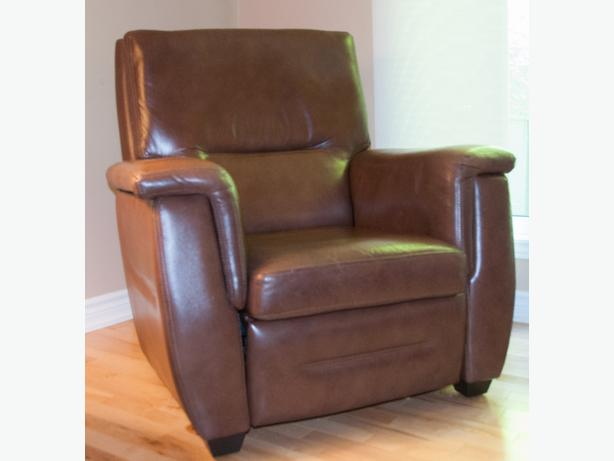Two leather recliner chairs