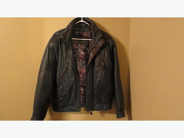 MEN'S GENUINE LEATHER JACKET (marked down)
