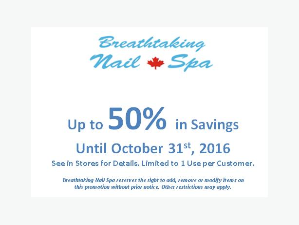 FREE: Up to 50% In Savings at Breathtaking Nail Spa