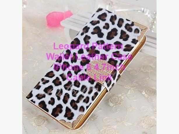 Leopard Leather Wallet Stand Magnetic Flip Case For iPhone 6 4.7