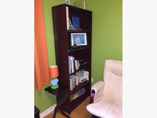 Bookshelf and small side tables