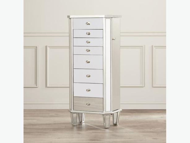 Brand New Mirrored Jewelry Armoire