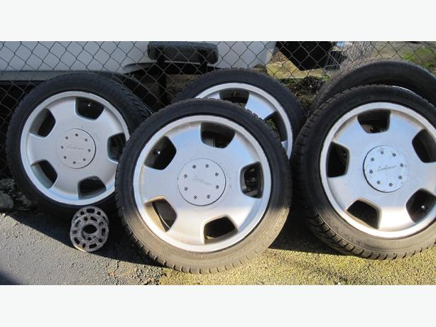 mounted snow tires
