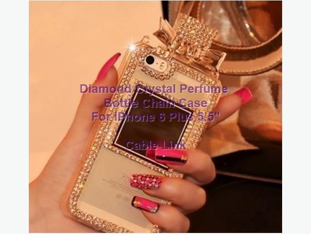 Diamond Crystal Perfume Bottle Chain Case Iphone 6 plus 5.5""