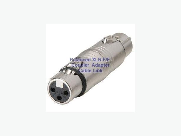 Balanced XLR F/F Coupler Adapter
