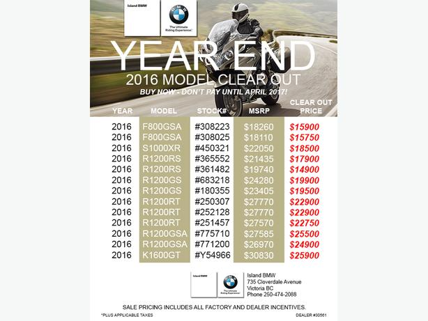 Island BMW YEAR END 2016 Model CLEAR OUT
