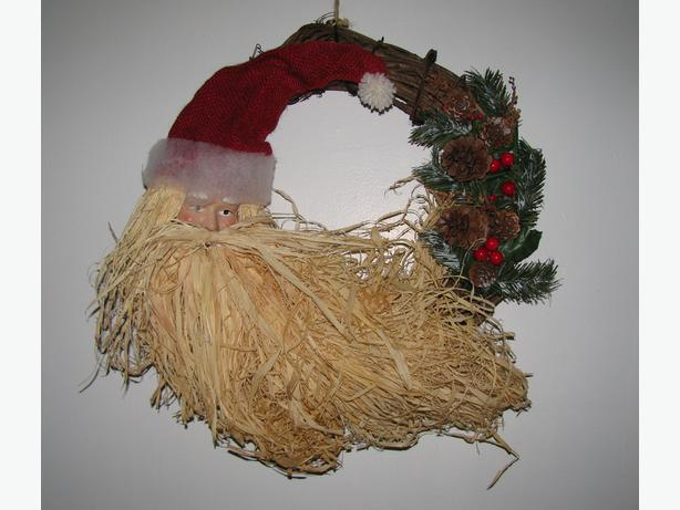 Whimsical Santa Wreath