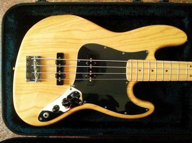 1997 Fender Jazz Bass Guitar, USA Maple/Ash - RARE