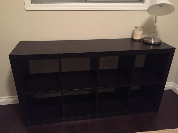 IKEA black cubby system in good condition (8 cubbies)