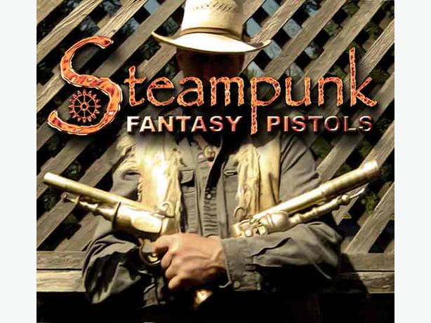 Fantasy Flintlock steampunk prop pistols