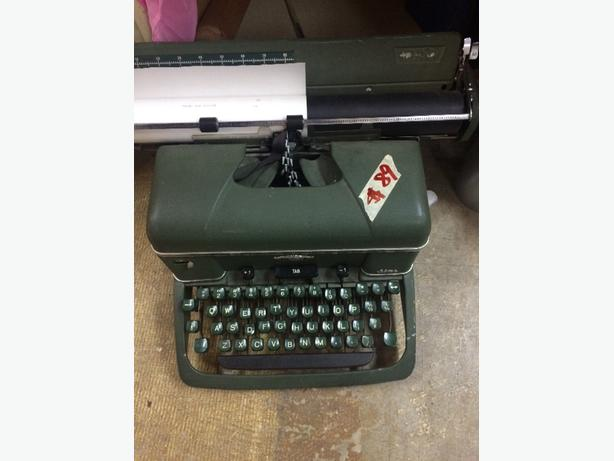 old army colour typewriter