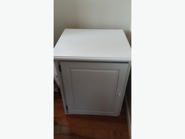 wooden white cabinet