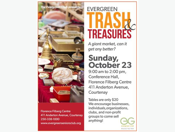 "FREE: Evergreen Club's Giant ""Trash & Treasures Sale"" Multi Vendor Sale"