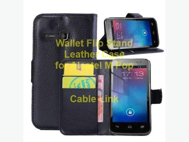 Wallet Hybrid Leather Stand Case for Alcatel One Touch M Pop