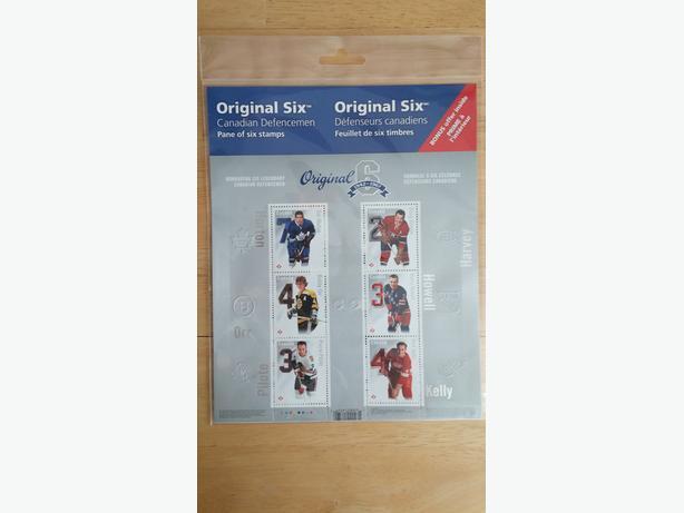 Canada Post's 6 Best Defencemen Sheet of Stamps