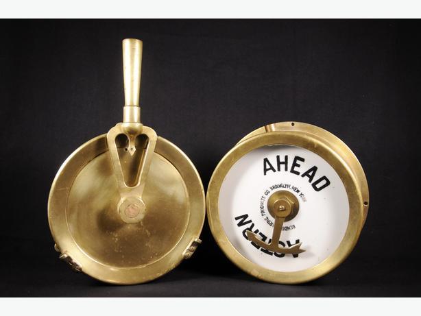 Antique Brass Pair of Ship Marine Engine Telegraphs for Submarine Naval Navy