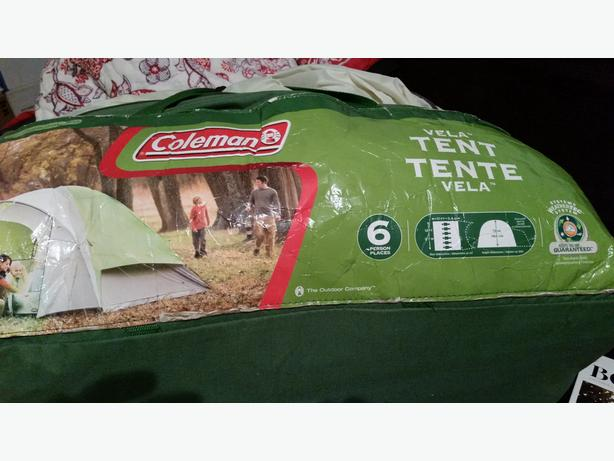 Coleman Vela 6-person tent hardly used & Coleman Vela 6-person tent hardly used Victoria City Victoria