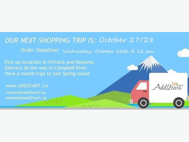 Add2cart.ca Comox Valley| We deliver IKEA |  October 27/28