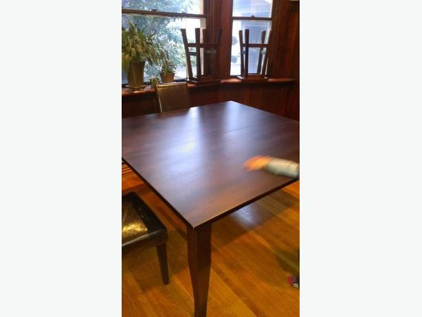 REDUCED Solid Maple Dining Room Table AND Chairs