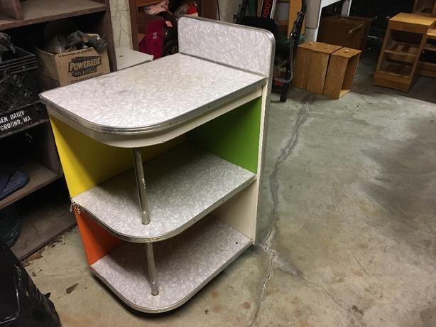 retro cool kitchen countertop storage saanich