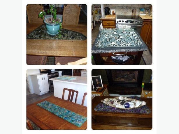 Beautiful Glass Platters, Trivets & Wall Hangings