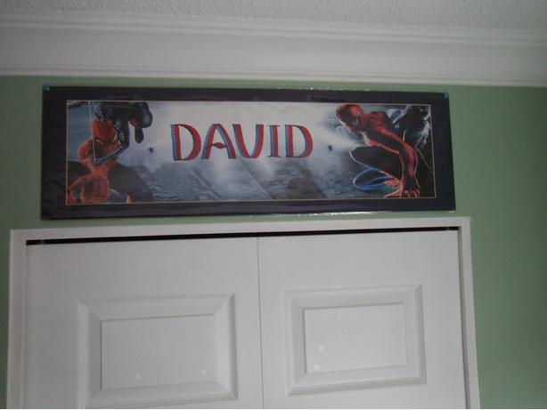 Spiderman Picture with name of David