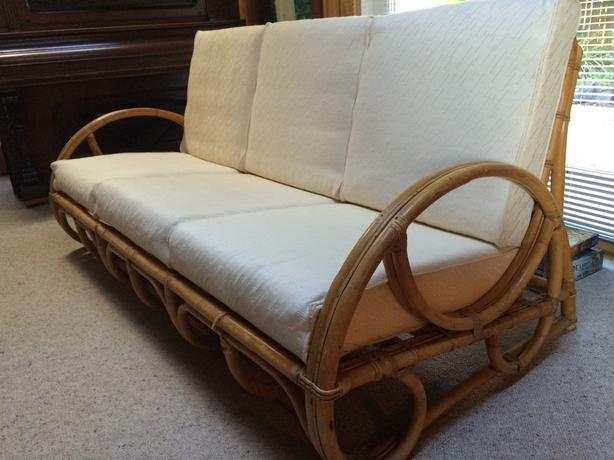 Paul frankl style vintage rattan sofa victoria city