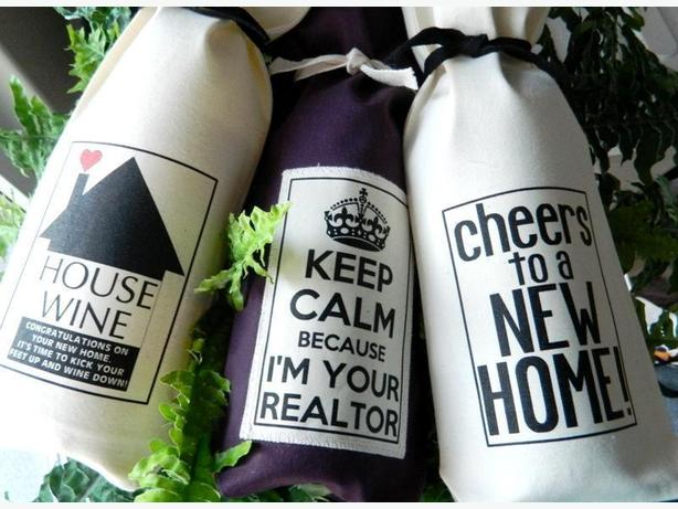 Real Estate Corporate Gift Bags Custom Realtors Wine Gift Bags Clients Referrals