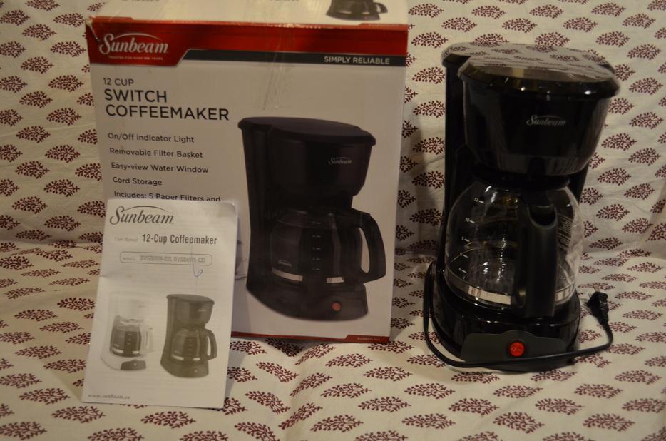 Sunbeam Coffee Maker Red : SUNBEAM 12 CUP SWITCH COFFEE MAKER - BLACK North Regina, Regina