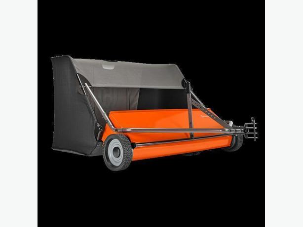 "NEW 50"" Husqvarna Tow Behind Lawn Sweeper"