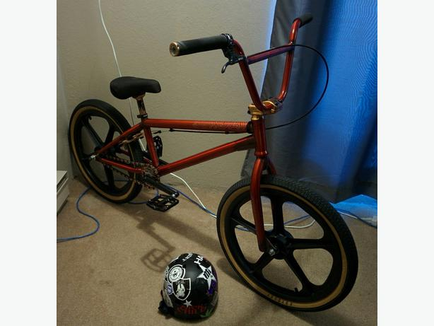 Skyway Tuff mags for new school bmx plus Odyssey Path tires Victoria City, Victoria