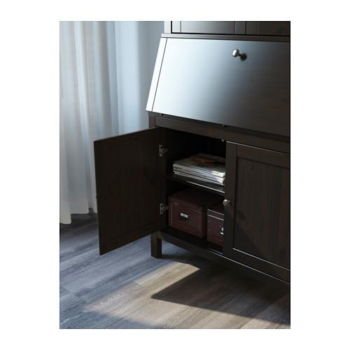 Ikea Hemnes Secretary Desk With Add On Unit Black Brown