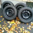 Bridgestone Blizzak LM-25 Run Flat Winter Tires on Rims