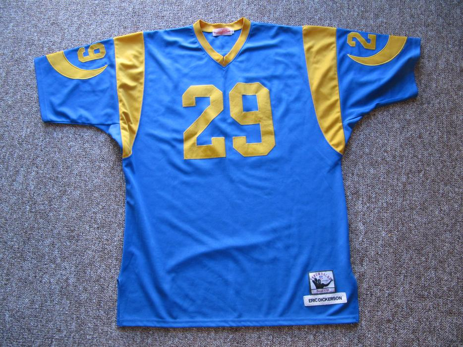 newest 519a9 3a895 $125 · Eric Dickerson Throwback Rams Jersey. Mitchell & Ness. All #'s etc  Sewn On